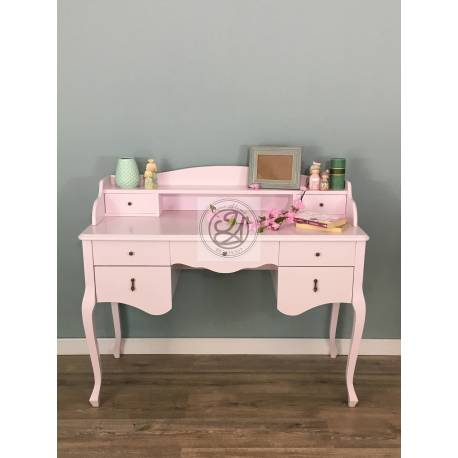 Pink office vanity table