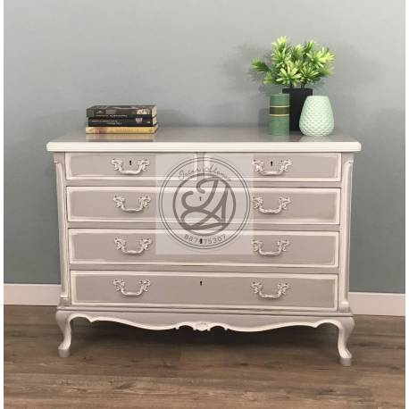 Chest of Drawers Pearled Grey Color