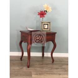 Red Console Table Vintage