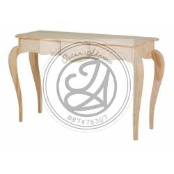 Hardwood Off Black Console Table with cover Gold Color